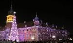 Warszawa w blasku świątecznych ozdób - Warszawa Nocą